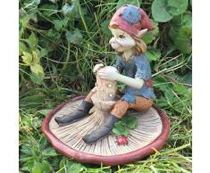 Pixie en seta, escultura Magical Mystery alta calidad Jardín Decoración Figuras Elfo & Fairy Niños, altura de 10 cm