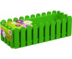 Emsa 508691 Casa Brilliant - Jardinera rectangular (polipropileno, 75 x 20 x 16 cm), color verde