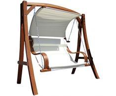 Diseño oscilación del jardín porche columpio hamaca modelo de alerce madera: HM101 'MERU'