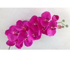 GMMH Ramas de orquídeas 107 cm XXL de Seda Flores Artificiales Flores Rosa Oscuro como de orquídea Artificial