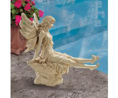 Design Toscano by Blagdon WU68709 - Figura decorativa (resina), diseño de hada, color blanco