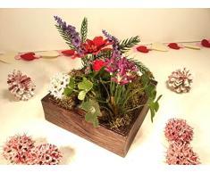 Cuadro/Jardín vertical,centro de mesa y portaflores decorado con flores artificiales