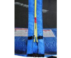 SixBros - SixJump 1,85 M Trampolín de jardín azul - Escalera | Red de seguridad | Lluvia cobertura - CST185/L1573