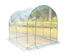 Homcom - Invernadero caseta acero plastico jardin terraza cultivo plantas (varias medidas), medidas 350x200x200