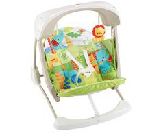 Fisher-Price- Rey Leon Columpio hamaca portable 2 en 1, juguetes bebe (Mattel CCN92)