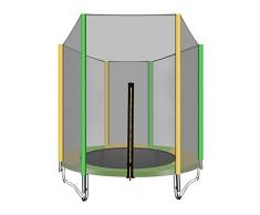 WZHESS Cama elástica trampolin con Red de Seguridad,Cama Elástica Infantil Trampolín Jardín 150 cm de diámetro, Red de Seguridad, Apta para Exterior o Interior, Peso máximo 200 kg