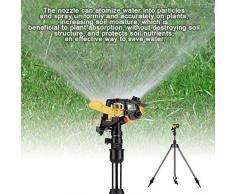 Dewin Aspersor de riego por trípode - Trípode de Acero Inoxidable Herramienta de riego por Agua, Sistema automático de aspersión de plástico, Suministro de césped para jardín