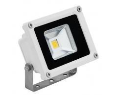 FG - Foco LED con panel solar para iluminación externa, con batería integrada de 2000 mAh (4 LED, 2 W, 5 V)