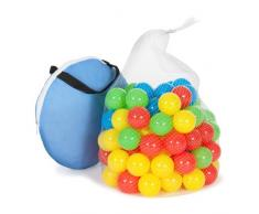 TecTake Carpa de juegos con 100 bolas piscina de bolas carpa infantil con bolsa - disponible en diferentes colores - (azul | no. 400951)