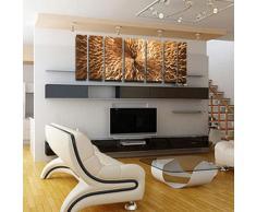 """""""energía rítmica, Cobre"""" contemporáneo moderno de pared de Metal escultura de arte abstracto de la pintura de decoración para el hogar"""