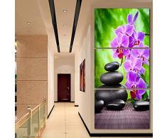 Not applicable Tejido no Tejido Impresión Pintura del Arte de la Lona de HD para la decoración de la Pared de la Sala de Estar 3 Pedazos de la Piedra púrpura de la Piedra del adoquín