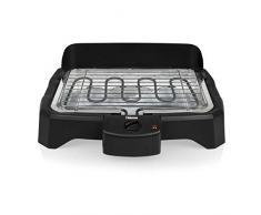 Tristar BQ-2824 Barbacoa eléctrica de Mesa, termostato Regulable, 2000 W, asado sin Humos, Negro