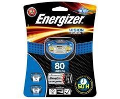 Energizer - Linterna de cabeza frontal + 3 piles AAA/LR03 , color negro/azul