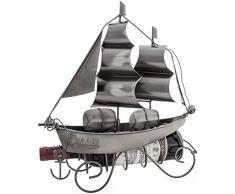 """BRUBAKER botellero con forma de """"barco de vela"""" Metal Escultura regalo con tarjeta de felicitación-"""