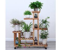 Bastidor para macetas Flower Rack / Multilayer Wooden Flower Rack / Display Decorativo Stand / Modern Minimalist / Hogar Jardín Patio / Patio Exterior Pantalla Patio Patio (4 colores) ( Color : B )