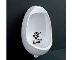 Ecloud Shop® Potty Niños a prueba de agua de pared pegatinas Adhesivos WC extraíbles
