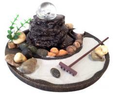 Fuente Feng Shui con jardín zen