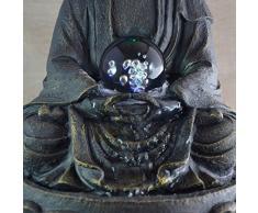 Fuente para interior con Buda (iluminación LED multicolor, 30 cm