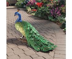Design Toscano by Blagdon DB20191 - Figura decorativa para el jardín (resina), diseño de pavo real