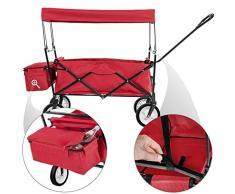 TecTake Carro de mano plegable con techo Carro de transporte para utensilios Carretilla