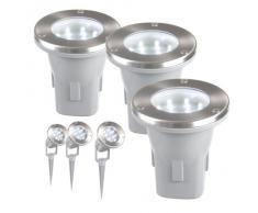 Ranex RA-5000158 - Focos solares LED para jardín