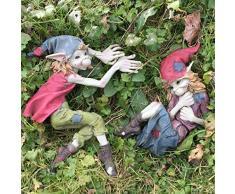 Pixie Par pared placas Boy & Girl Magical Mystery alta calidad Jardín Decoración Escultura Elfo & Fairy Niños Juego de 2 Altura: 20 cm