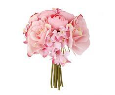 Desconocido Ramo de Flor Rosa Hortensia Artificial para Novia Boda Nupcial -Rosado