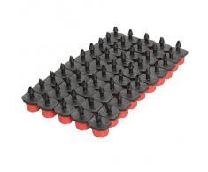 Tenflyer 50pcs Micro Flow Dripper Goteo Head 1/4 pulgadas Riego Nebulización