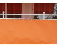 Angerer Toldo lateral para balcón (75 cm x 6 m), color naranja