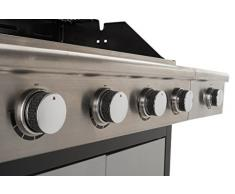401530 Landmann Gas Barbecue BBQ Grill 4+1 Burners Silver (NL / FR / BE Only) - Untranslated