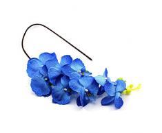VANKER Mariposa flor de la orquídea Phalaenopsis de seda artificial Inicio Jardín Decoración (Azul)