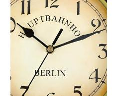 Soporte Montaje en Interior y Exterior para Doble cara Reloj de pared Estación de Tren Jardín Reloj