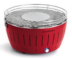 LotusGrill G-RO-435 - Barbacoa de carbón sin humo XL, color rojo