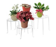 4 en 1 Metal Flores estanterías Planta Soporte mesa Planta mesa florero