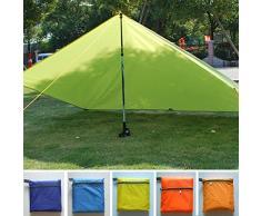 Toldo impermeable ultraligero para acampada, para senderismo, pesca, picnic, tienda de campaña, acampada, refugio de supervivencia Tamaño libre verde