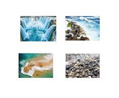 Río Piedra Etiqueta de la Pared 3D del adoquín a Prueba de Agua de baño Cocina Suelo Decoración Tatuaje Etiquetas caseras del Papel Pintado fgyhty
