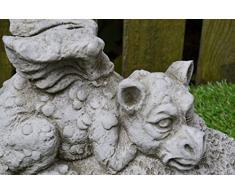 WELCOME DRAGON - diseño de jardín de piedra/de hierro forjado de la Estatua de la escultura/