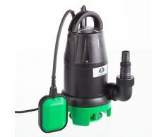 Ultranatura SP-100 - Bomba de aguas residuales, 350 W, bomba de motor sumergible con interruptor de flotador; caudal máximo de 7000 l/h, altura de elevación máxima de 5 m