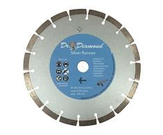Disco de corte de diamante (230 Silver Runner diamnt con orificio de 22,23 mm – Disco de diamante adecuado para Bordillo, piedra – Adoquín, cortadora de césped, de piedra, tejas y Muro piedra