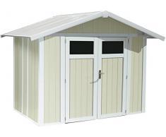 caseta cobertizo de resina jardin grosfillex deco5 4.90 m2 color gris verde