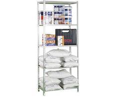Estantería Metálica Kit Maderclick 5/500 Plus galvanizado, 2000x1000x500, 5 estantes, Simonrack