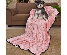 PAWZ Road Mascota para perros manta de cama cubierta de tela de vellón suave y lindo ( Color : Pink , Size : L )
