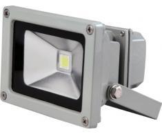 Electraline 63400 - Proyector halógeno con detector (10 W, 1 led), color negro