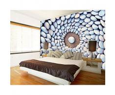 Finloveg 5D Mural Fondo De Piedra Adoquín 3D Mural De La Pared Papel De Pared Para La Sala De Pared 3D Foto Murales De Papel Tapiz-280X200Cm
