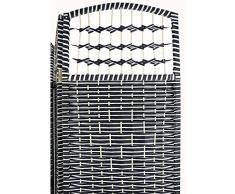 Biombo Country blanco y negro de Bambú Natural tres paneles (1.70X1.20 CM)