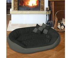 BedDog 4 en 1 SABA antracita/gris XL aprox. 85x70cm colchón para perro, 7 colores, cama para perro, sofá para perro, cesta para perro