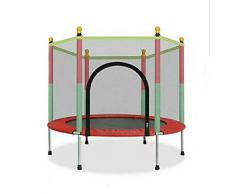 Thole Cama elástica de jardín Jumper Set de trampolin con Superficie de Salto Seguridad Postes Acolchados para la Red y Revestimiento para Borde Unisex niños,Red