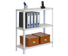 Simonrack 202100204901033 - Estantería metálica con tornillos (900 x 1000 x 300 mm, 100 kg/estante, 3 estantes metálicos) color blanco