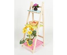 ts-ideen - Mueble para flores estante escalera estantería de pared balcón jardín colorado plegable