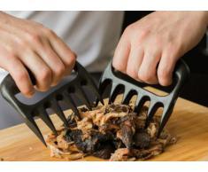 Pinzas de carne para barbacoa HeroNeo fibra de polipropileno con tratamiento de tenedor mensah cometió manejador pinzas tirador de cerdo